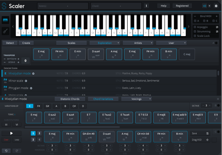 Review of Scaler 1 5 – chord detection and creative chord